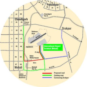 Shorter route being developed for the Mohali Airport - Developing Punjab, Punjab Transportation