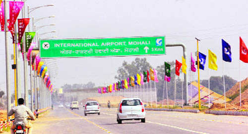 Shorter route being developed for the Mohali Airport, Developing Punjab, Punjab Transportation
